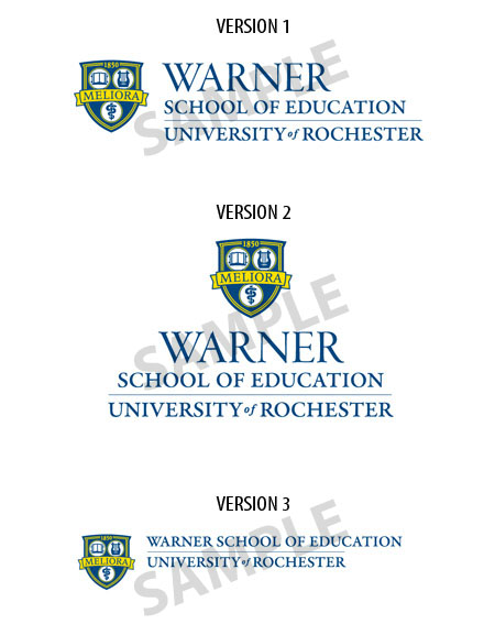 Warner School of Education logo samples