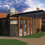 Ronald Rettner Hall for Media Arts and Inovation opens this fall. (Illustration by Steve Boerner.)