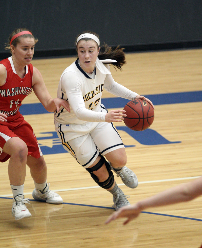 Ally Zywicki '15 (below) is among the returning students who will lead the women's basketball team in 2014–15. The team's season opens Nov. 15 at Oneonta State.