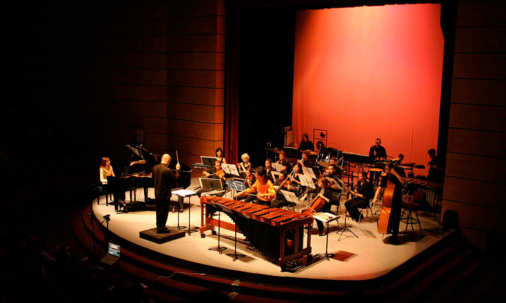 Eastman ensemble on stage