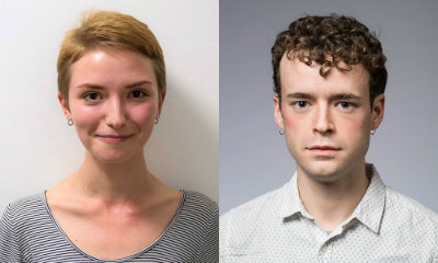 Portraits of two students