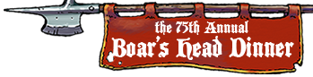 75th Annual Boars Head Dinner