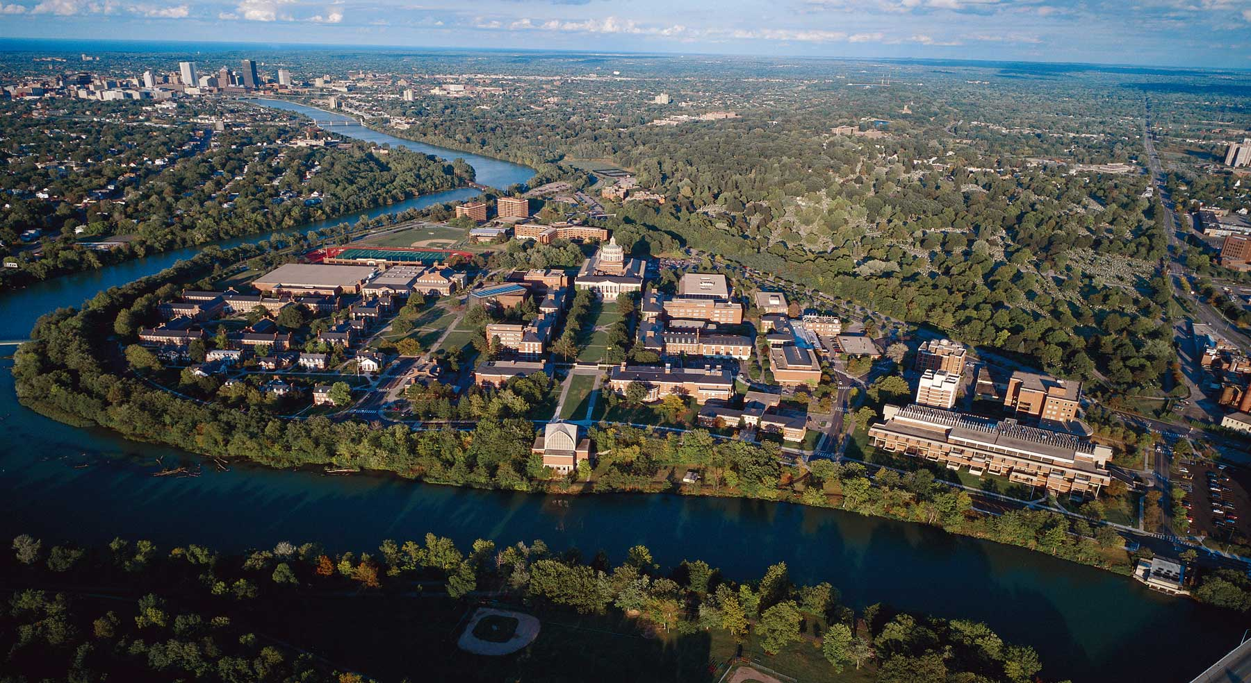 aerial view of River Campus