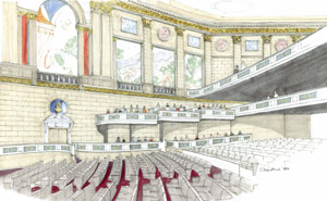 artist rendering of theater interior