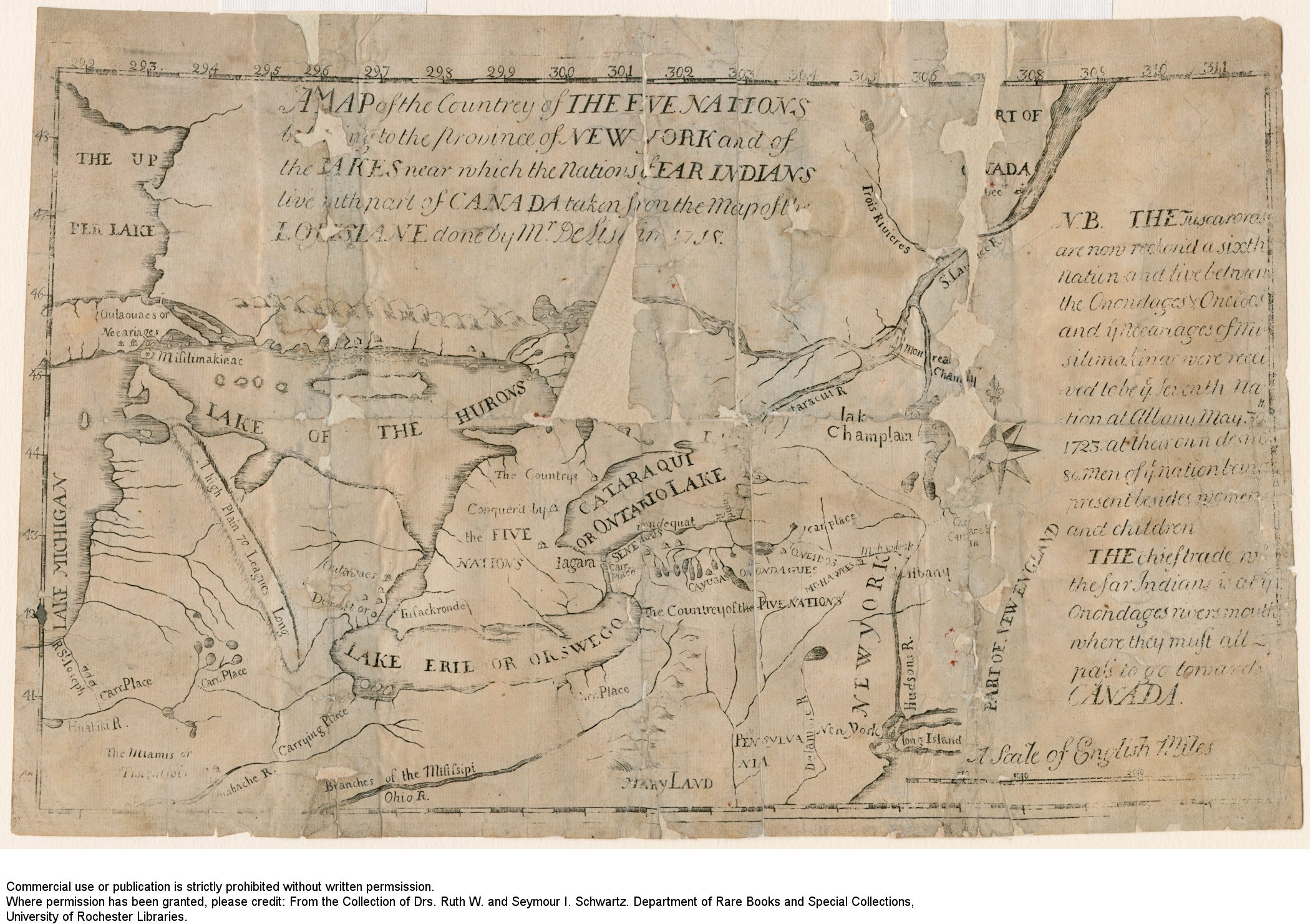 Rare Map And Print Collection Of Western New York Donated To The - New york map rochester