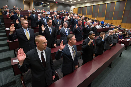 First Group of University Peace Officers Sworn In : Rochester News