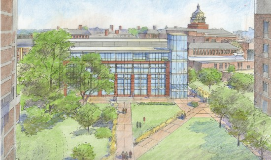 rendering of proposed data science building