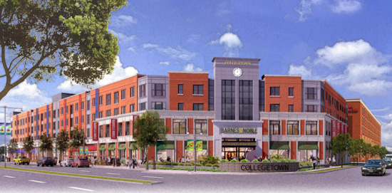 artist rendering of College Town