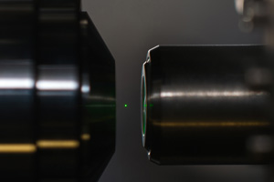 nanodiamond particle levitating between two diamonds