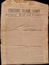 historical flyer on Fugitive Slave Law