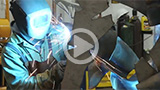 sculptor welding sculpture