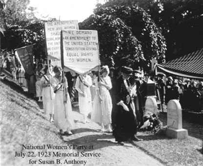 Suffragettes with signs