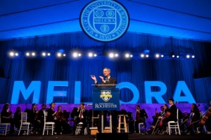 President Joel Seligman launched The Meliora Challenge: The Campaign for the University of Rochester in October.