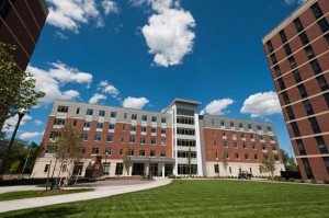 O'Brien Hall is the first building on the River Campus to receive LEED Gold certification for its sustainable design.