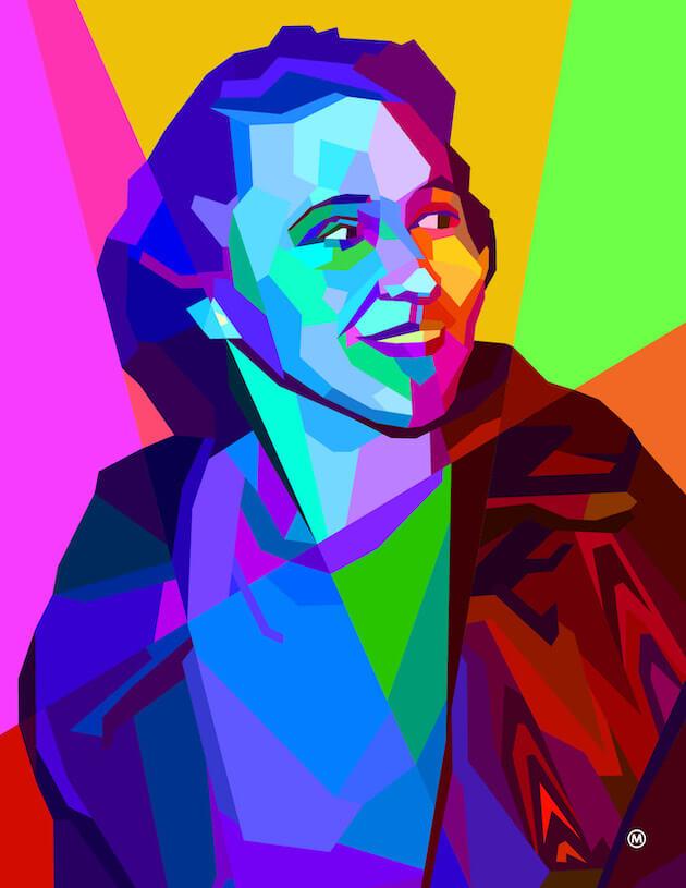 An illustration of Sylvia (Sylvy) Kornberg