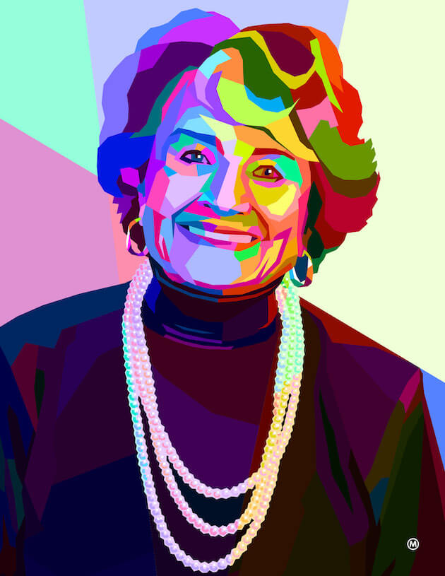 An illustration of Louise Slaughter