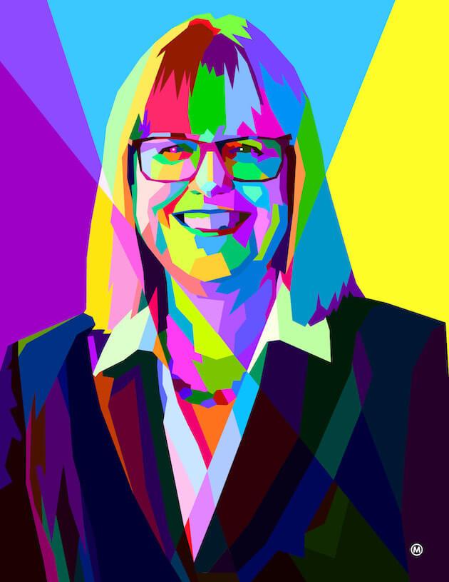 An illustration of Donna Strickland