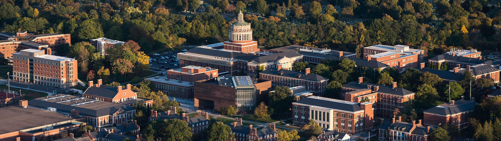 aerial view of the University of Rochester River Campus