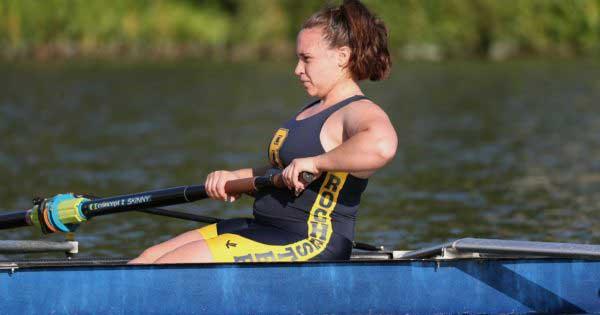 Alyssa Steger rowing