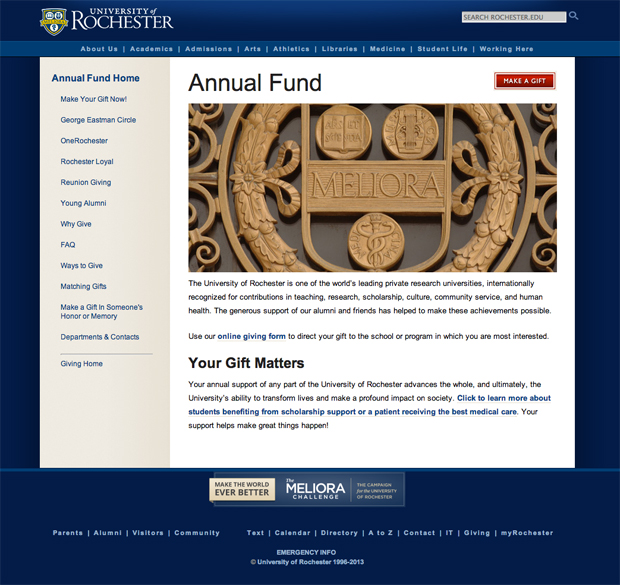 Annual Fund website