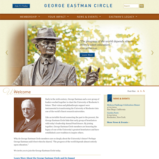 George Eastman Circle website
