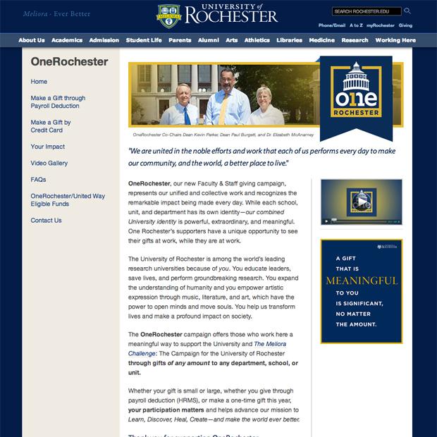 OneRochester website