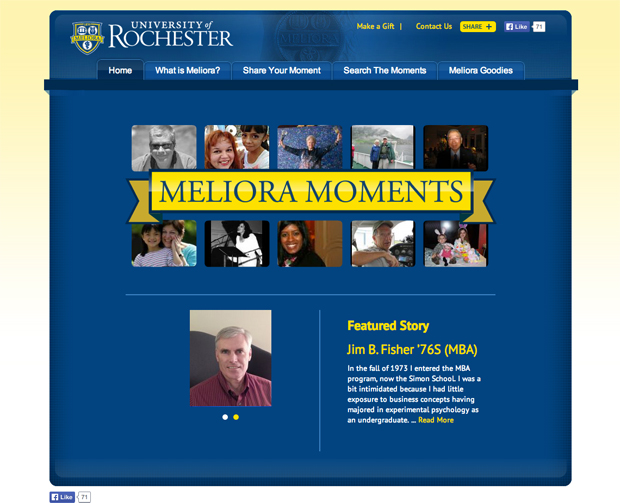 Meliora Moments website