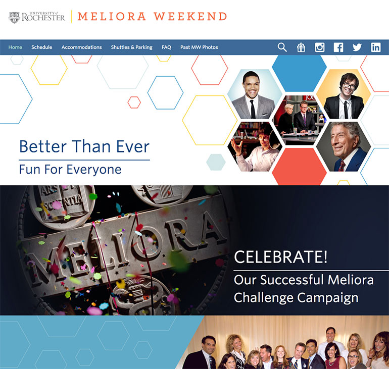 Meliora Weekend website