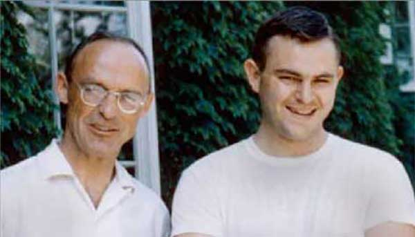 Marshall Gates, Jr., with John Zabriskie '66 (PhD), during the mid-1960s