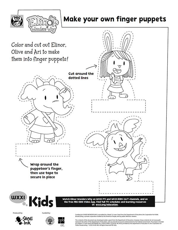 make your own finger puppets template