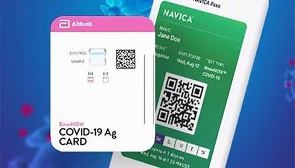 covid mobile app screenshot