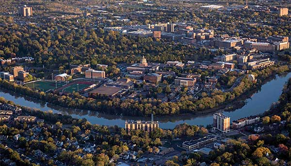 UR campuses aerial