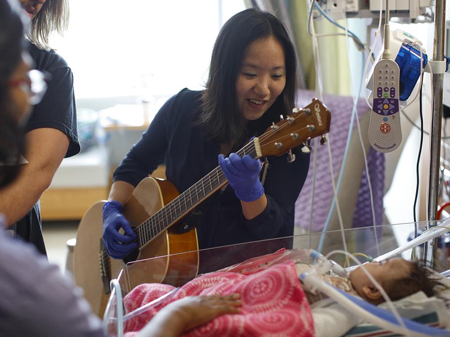 Elaine Kong in the Pediatric Cardiac Intensive Care unit.