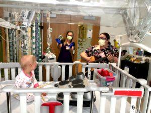 Jorie Pucillo with Obi and a nurse