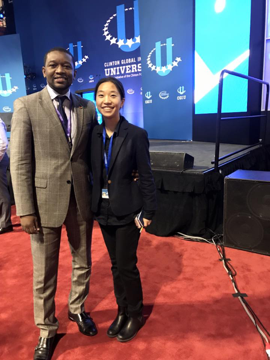 Shelley Chen at Clinton Global Initiative Conference