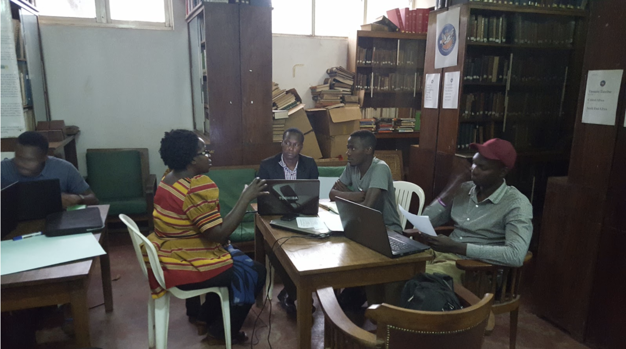 Planning meeting for Dewey Bazirake's startup in Uganda