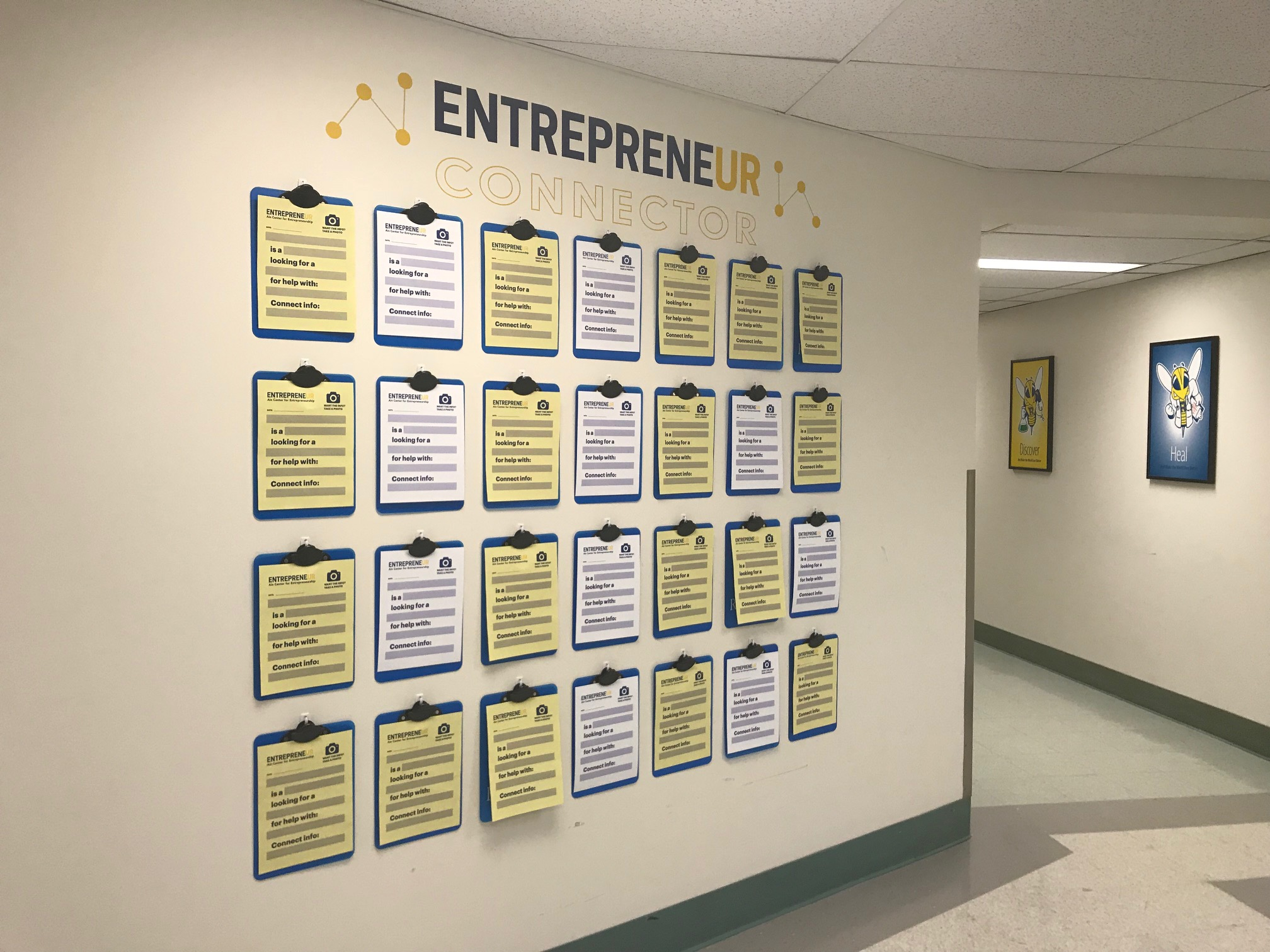 Ain Center Entrepreneur Connector Wall