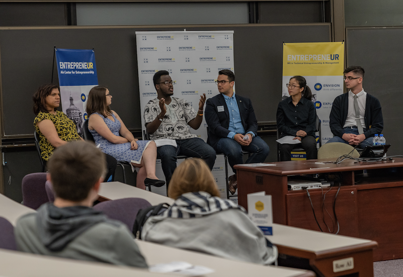 Student panelists during 2018 Meliora Weekend