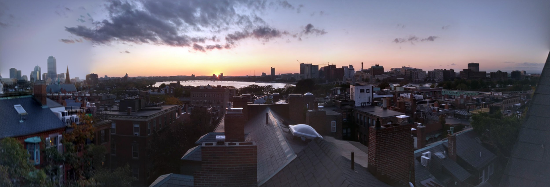 Rooftop view of Boston skyline