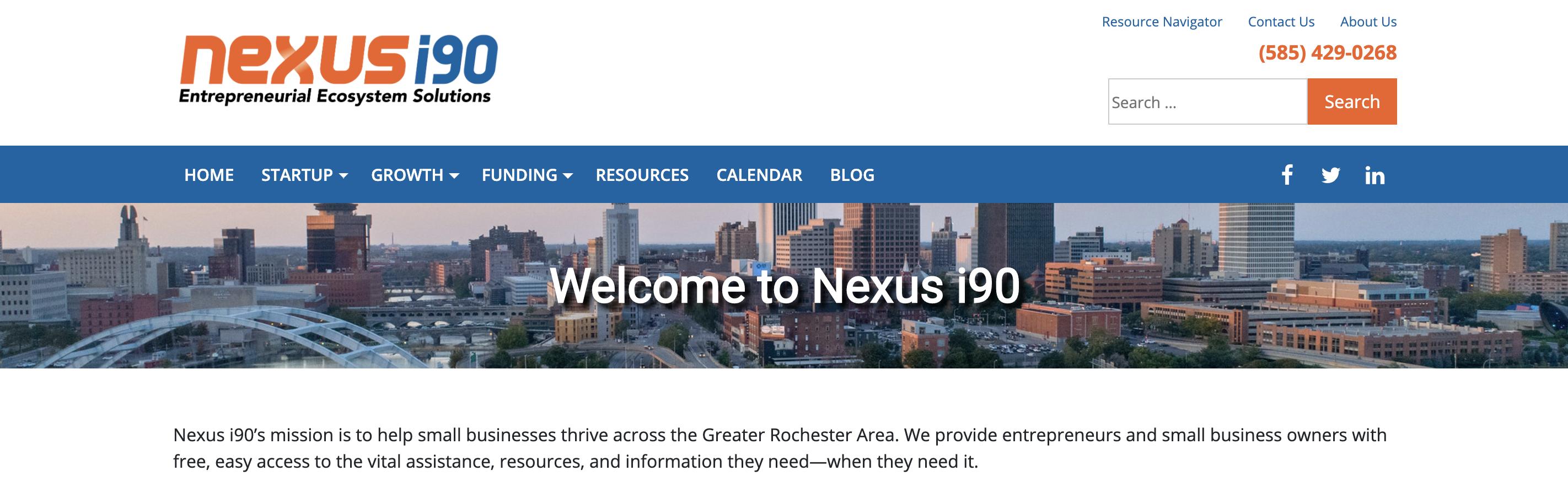 Nexus i90 Website