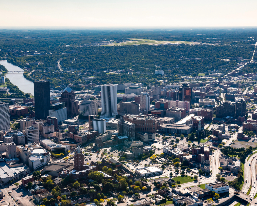 Rochester, NY aerial view