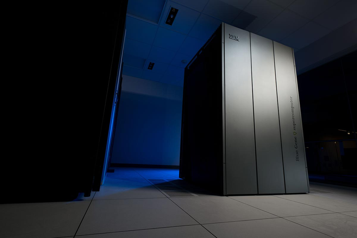Picture of IBM Blue Gene Q Supercomputer at University of Rochester