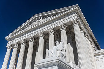 Exterior of US supreme court building