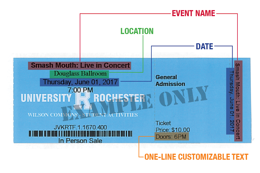 Ticket Markup Example