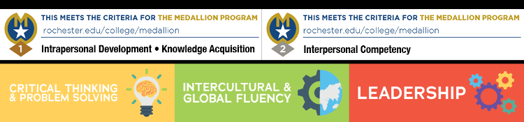Medallion badge highlighting that this program meets the criteria for Level 1, Intrapersonal Development and Knowledge Acquisition, and Level 2, Interpersonal Competency.