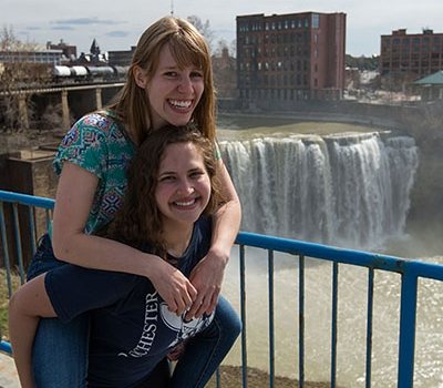 Students at High Falls