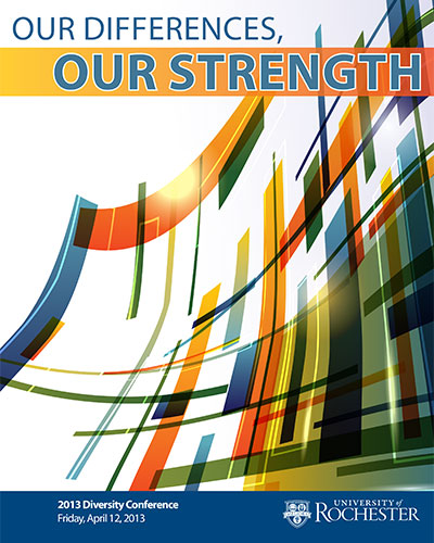 conference program cover reads: OUR DIFFERENCES, OUR STRENGTH