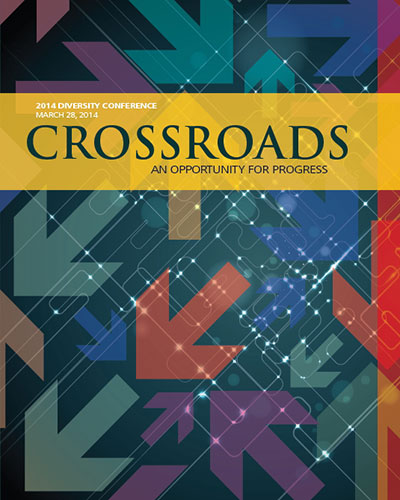 conference program cover reads CROSSROADS