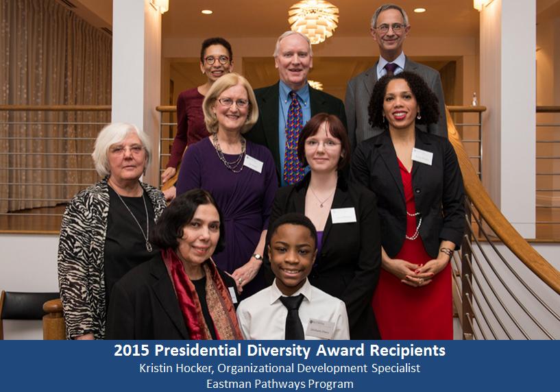winners of 2015 presidential diversity awards