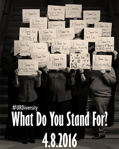 Conference program with the title WHAT DO YOU STAND FOR?